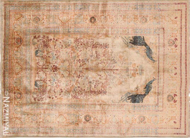 Antique Persian Tabriz Silk Prayer Rug | Nazmiyal