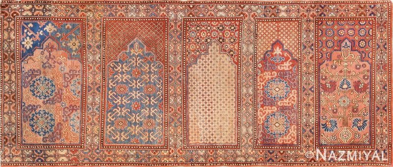 1800's Khotan Saf Prayer Rug | Nazmiyal