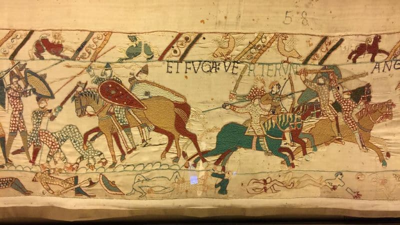 Bayeux Tapestry Et Fuga Verterunt Angli Nazmiyal
