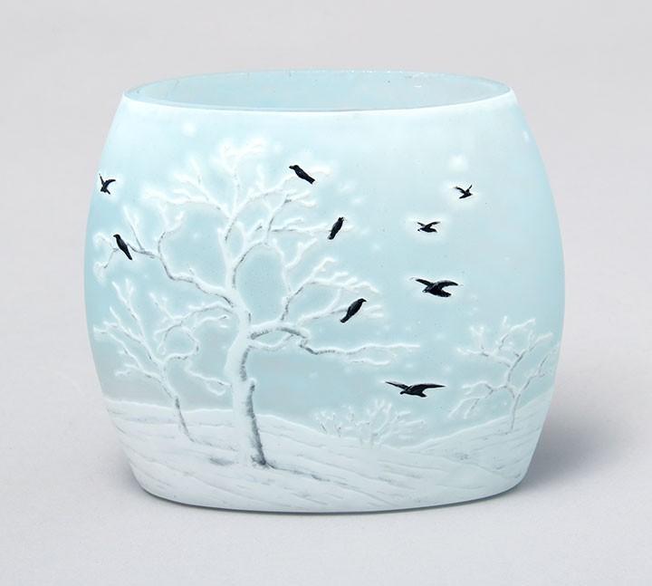 Daum Nancy Blackbird vases are rare and beautiful
