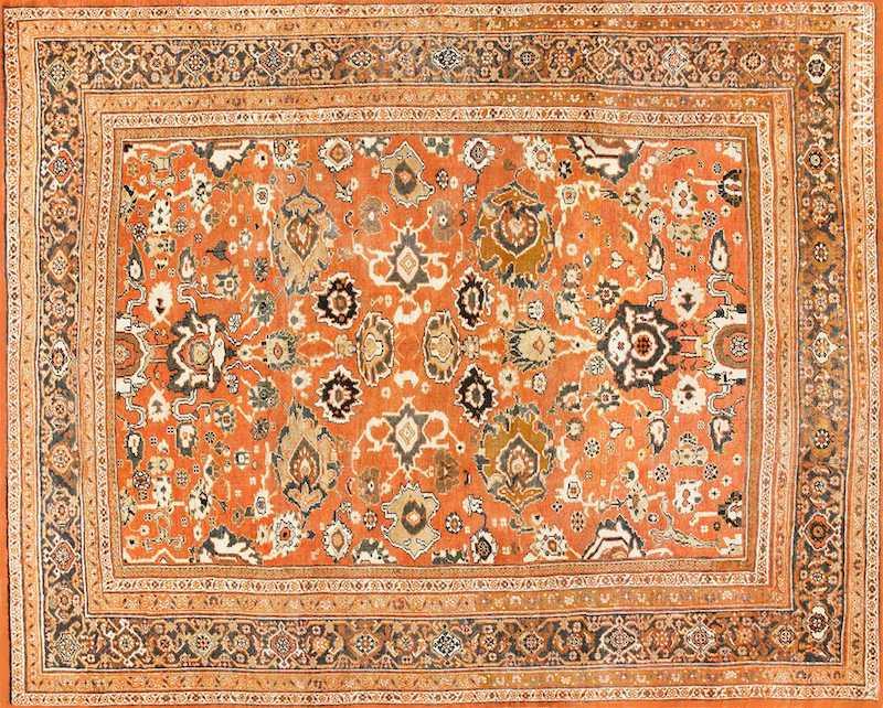 Rustic Antique Persian Sultanabad Rug Nazmiyal