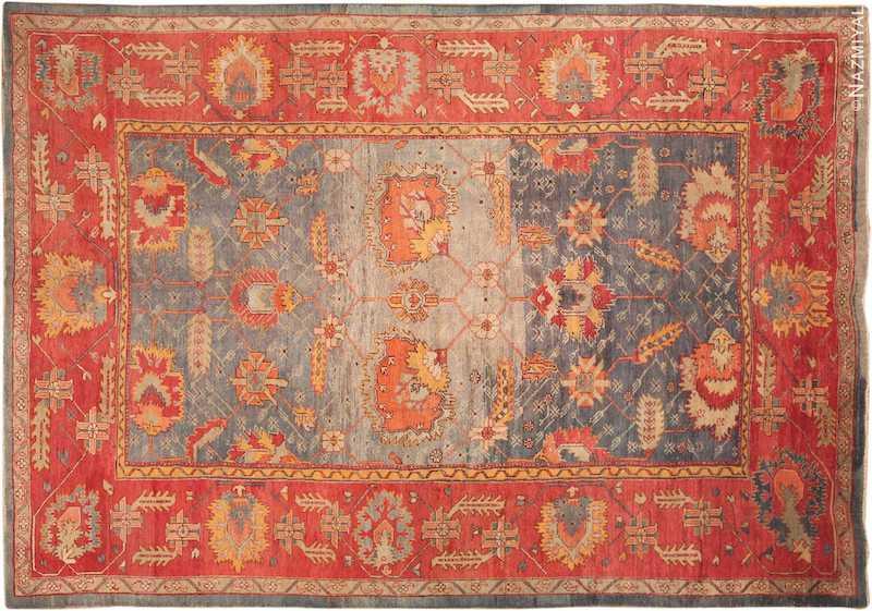 Large Antique Arts and Crafts Turkish Oushak Rug Nazmiyal