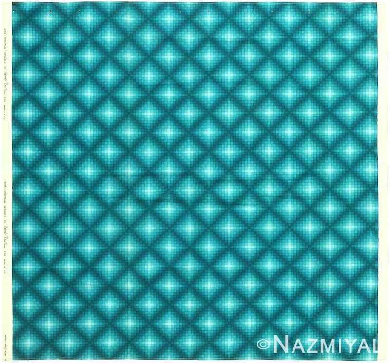 "Vintage Scandinavian Verner Panton ""Checkers II"" Textile Nazmiyal"