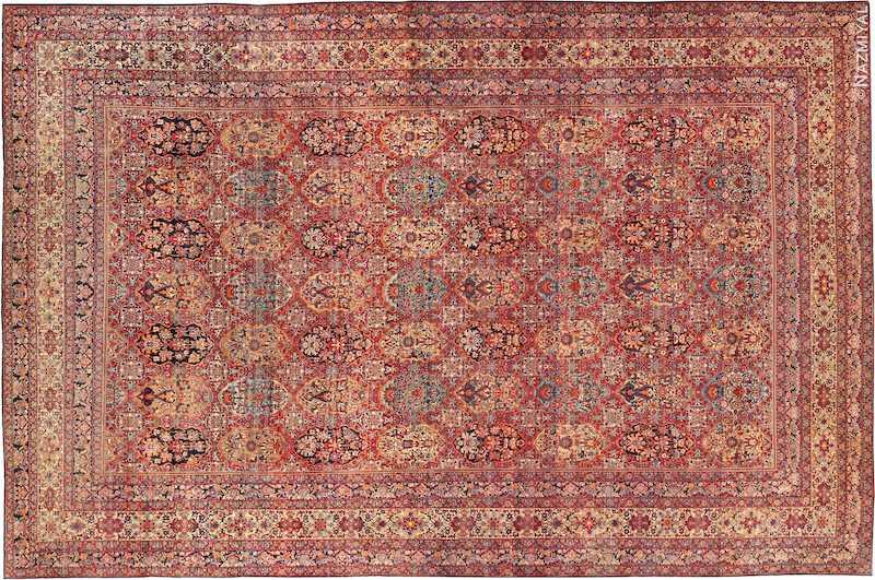 Antique Oversize Persian Kerman Carpet Nazmiyal