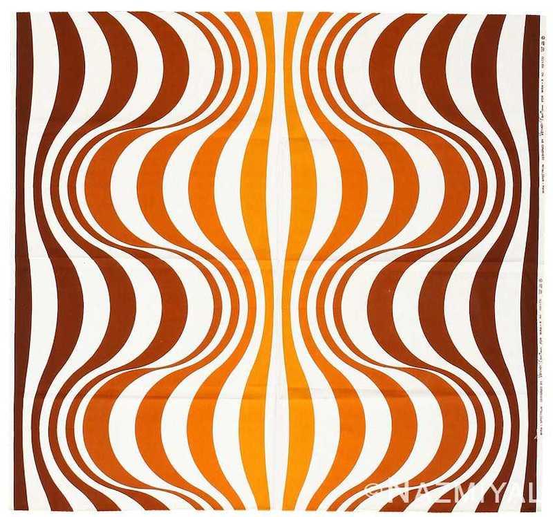 """Vintage Scandinavian Verner Panton """"Mira Spectrum"""" Textile Nazmiyal"""