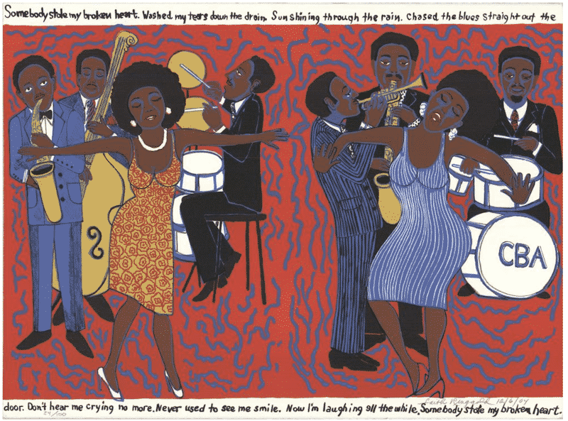 Faith Ringgold Somebody Stole My Broken Heart Namziyal