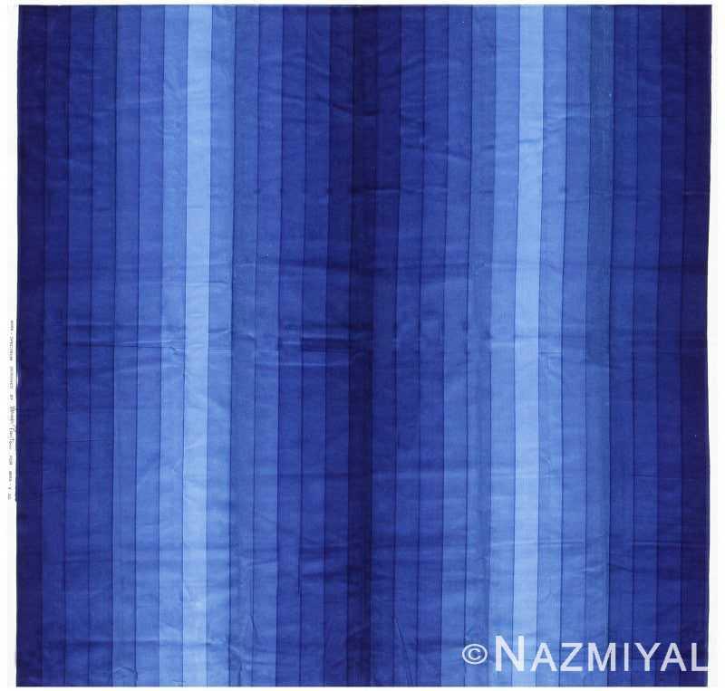 Vintage Verner Panton Textile Gradient in Blue Nazmiyal