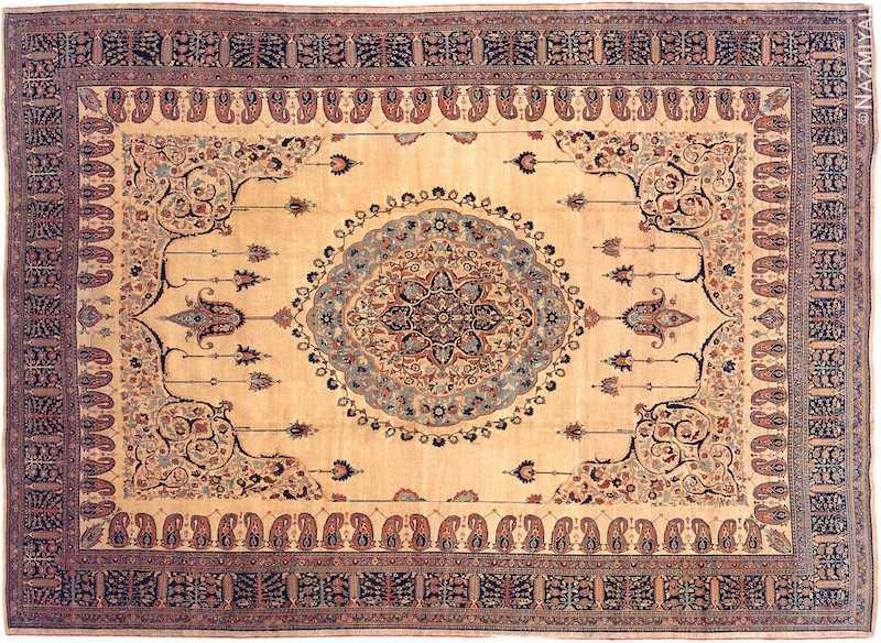 Antique Tabriz Haji Jalili Persian Rug Nazmiyal