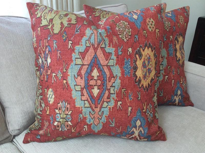 Carpet Throw Pillows Nazmiyal