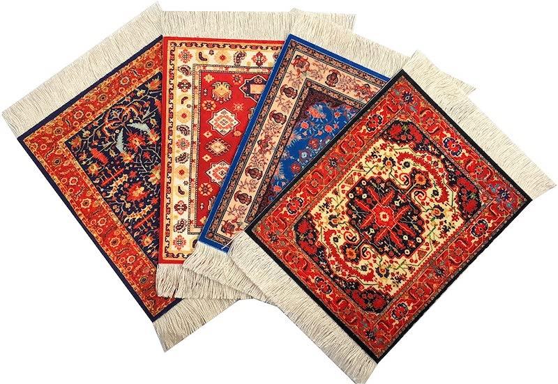 Oriental Rug Coasters Nazmiyal