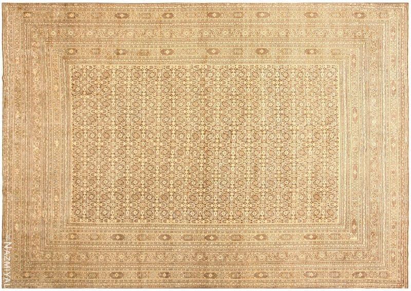 Large Brown Antique Persian Khorassan Rug | Nazmiyal