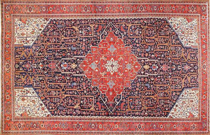 Oversize Antique Persian Serapi Heriz Rug Nazmiyal