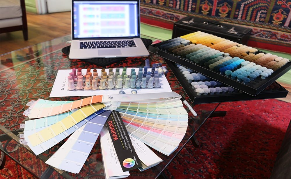 Custom Designing Rugs by Nazmiyal Antique Rugs in NYC