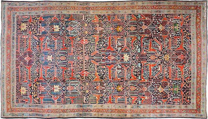 Oversized Antique Persian Bidjar Rug Nazmiyal