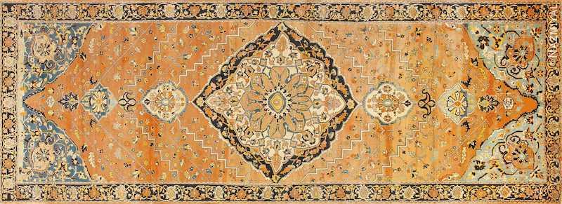 Rare Antique Gallery Size Persian Tabriz Rug Nazmiyal
