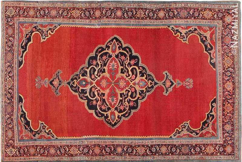 Fine Antique Persian Halvai Bidjar Rug Nazmiyal