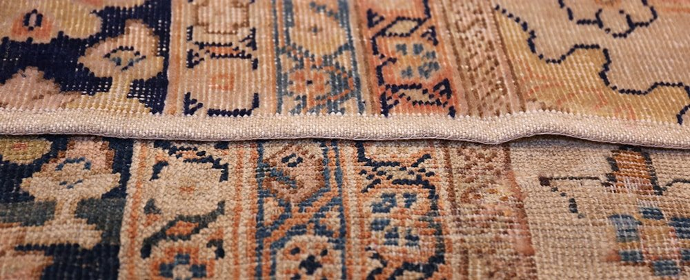 Approving Custom Rug Strike Off by Nazmiyal Antique Rugs in NYC