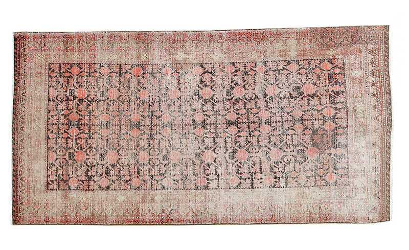 Pomegranate Shabby Chic Antique Oriental Khotan Rug Nazmiyal