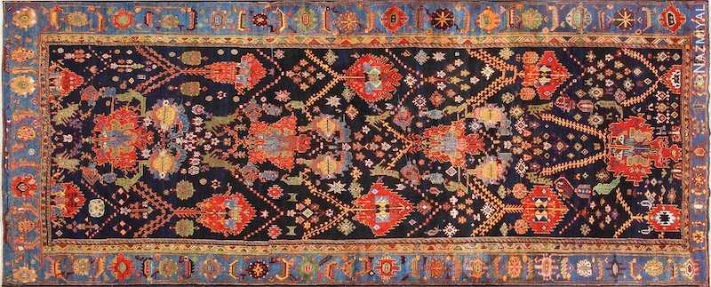 Colorful Antique Persian Bakhtiari Rug Nazmiyal