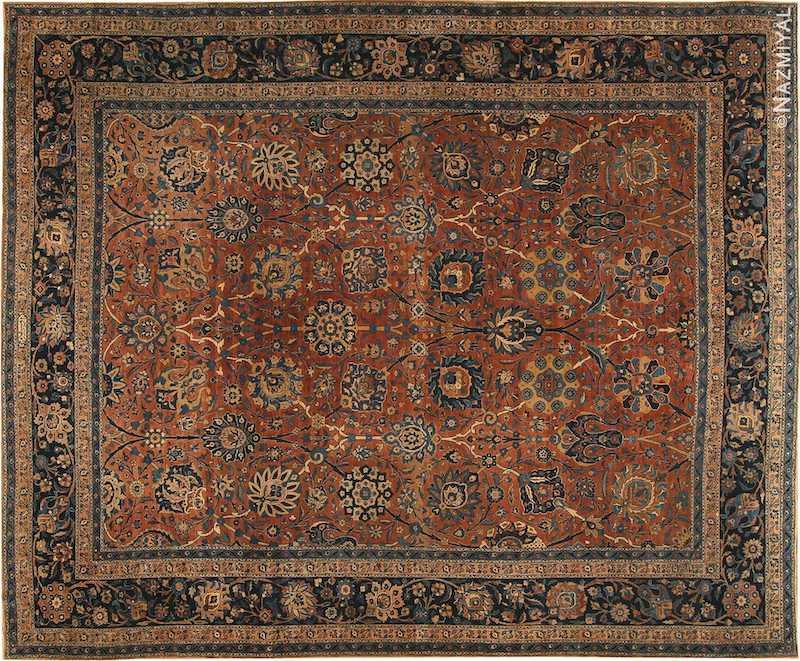 Antique Kerman Persian Rug Nazmiyal