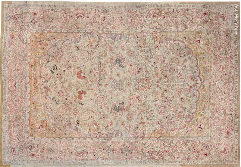 Antique Indian Agra Oriental Rug Nazmiyal