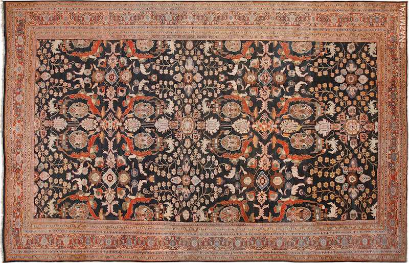Large Antique Persian Sultanabad Rug Nazmiyal