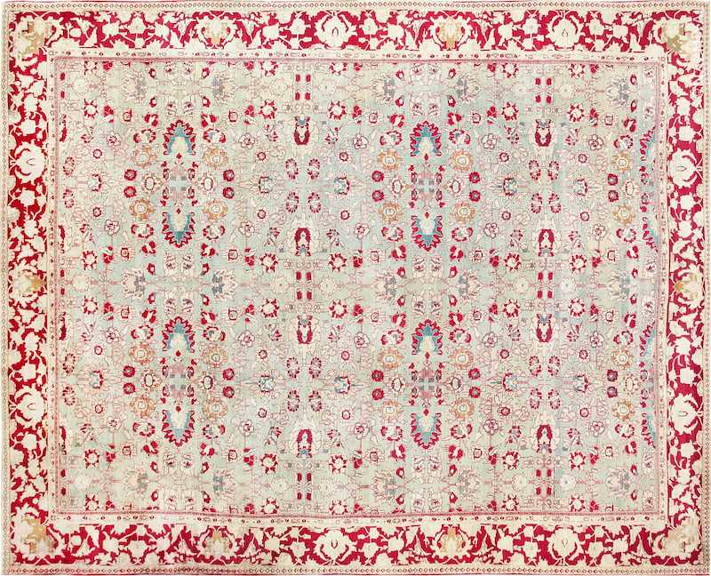 Antique Indian Agra Carpet Nazmiyal