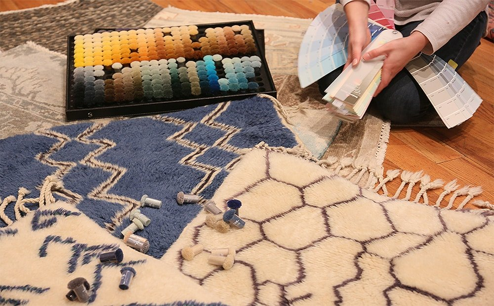 Choosing Rug Colors and Textures by Nazmiyal Antique Rugs in NYC