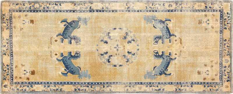 Antique 18th Century Chinese Ningxia Rug Nazmiyal