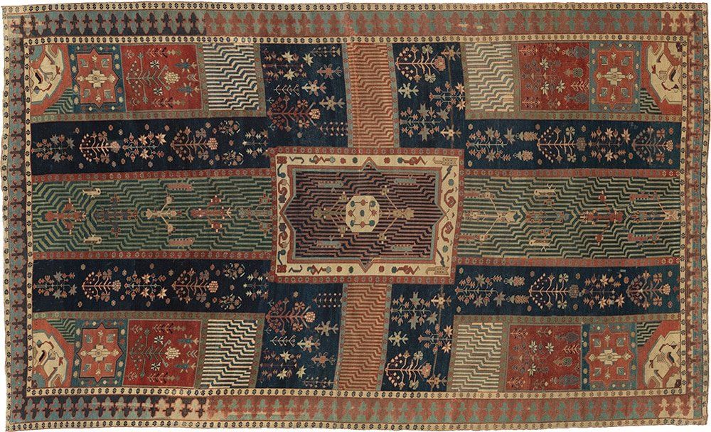 Char Bagh Rug At The Metropolitan Museum Of Art by Nazmiyal Antique Rugs