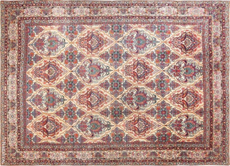 Large Antique Persian Kerman Rug Nazmiyal