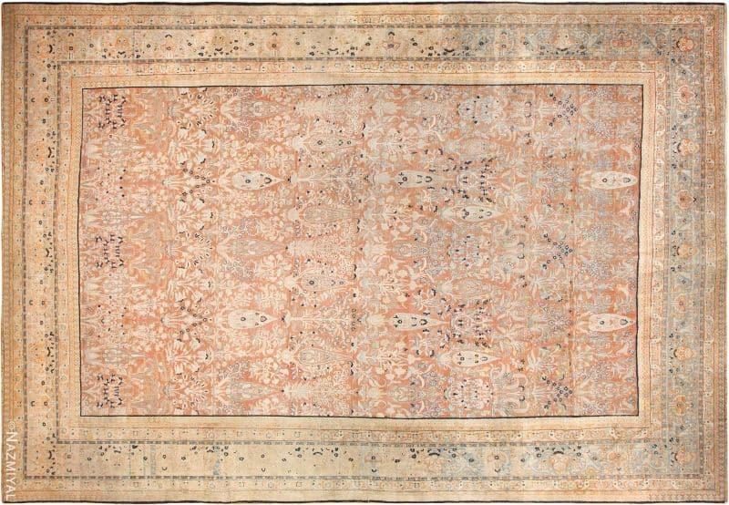 Oversized Antique Tabriz Haji Jalili Persian Rug Nazmiyal