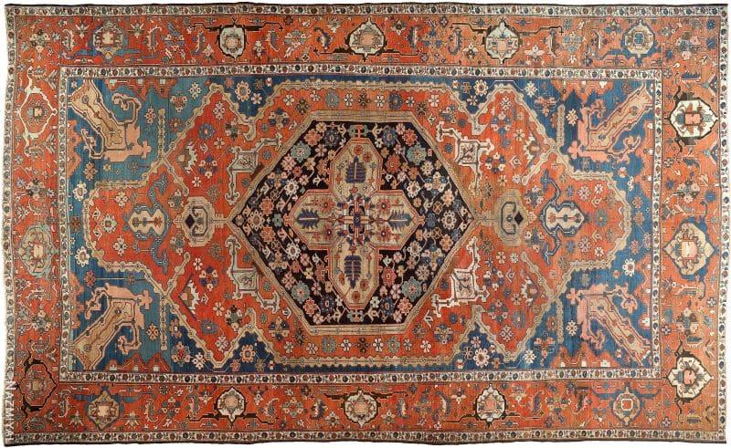 Oversized Antique Persian Serapi Heriz Rug Nazmiyal
