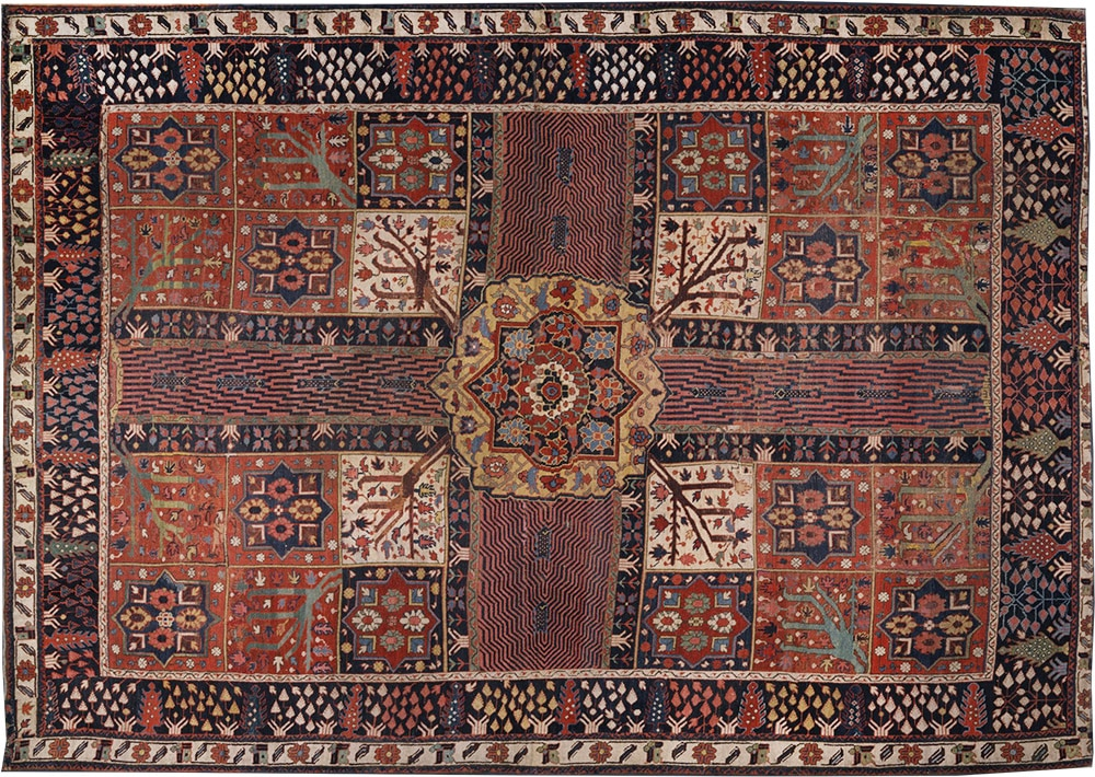 Chahar Bagh Four Quadrant Rug In The Victoria Albert Museum by Nazmiyal Antique Rugs