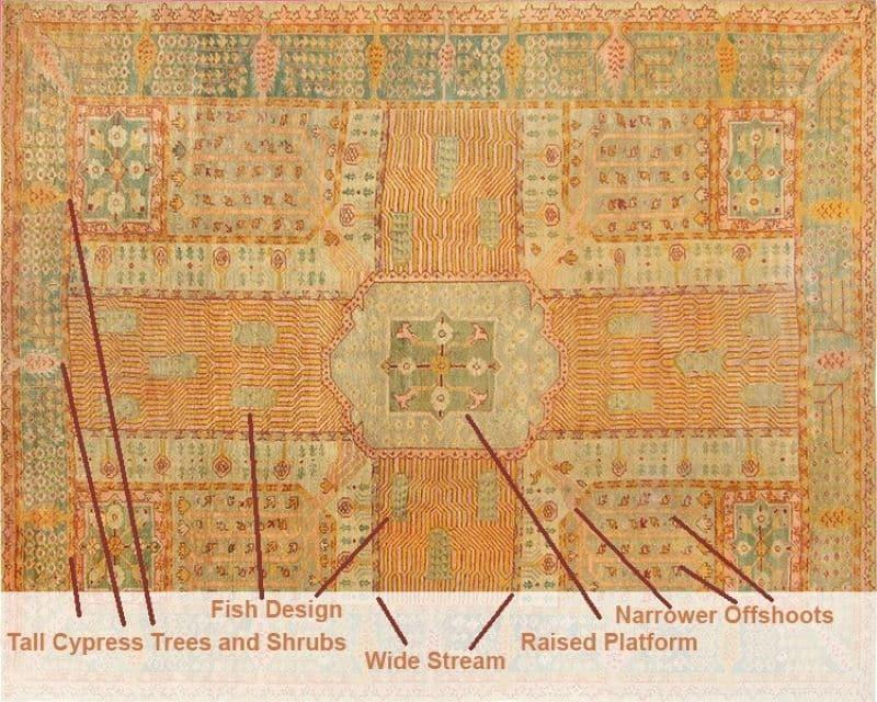Chahar Bagh Garden Design Carpet Nazmiyal