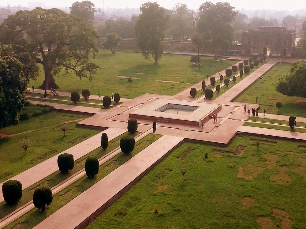Charbagh Gardens at Jahangir's Tomb In Lahore India by Nazmiyal Antique Rugs
