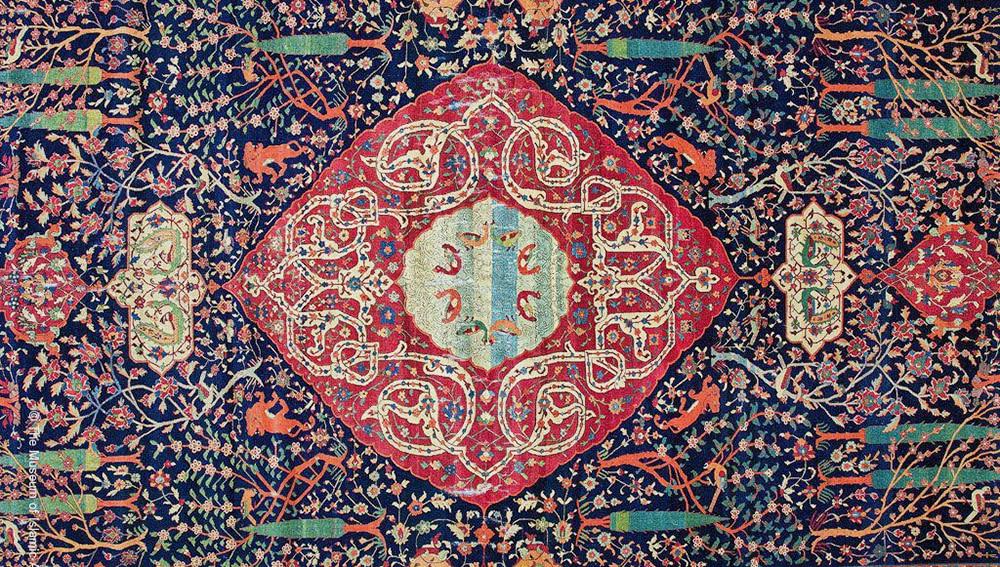Schwarzenberg Paradise Park Chahar Bagh Carpet Doha Islamic Art Museum by Nazmiyal Antique Rugs