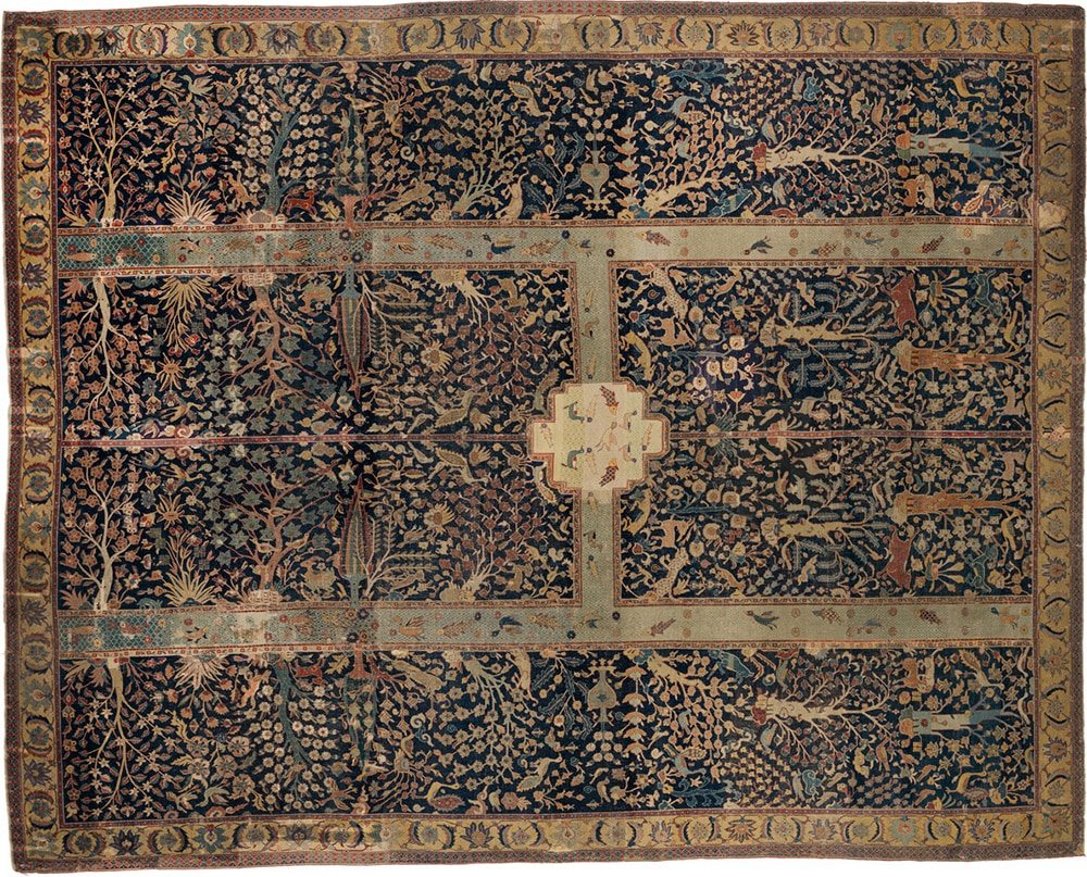 The Wagner Chahar Bagh Carpet In The Burrell Collection by Nazmiyal Antique Rugs
