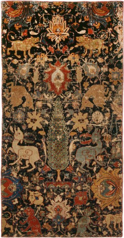 Chahar Bagh Paradise Park Design Safavid Fragment from the Montreal Museum Of Art by Nazmiyal Antique Rugs
