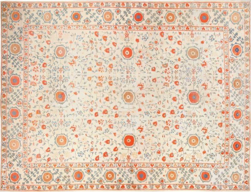 Breathtaking Large Oversized Antique Khotan Carpet Nazmiyal