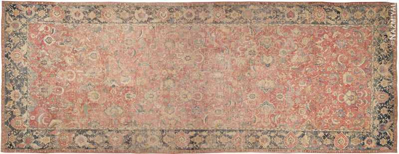 Oversized Antique 17th Century Persian Esfahan Oriental Rug Nazmiyal