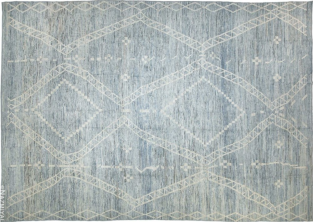 Oversized Modern Moroccan Style Area Rug by Nazmiyal Antique Rugs