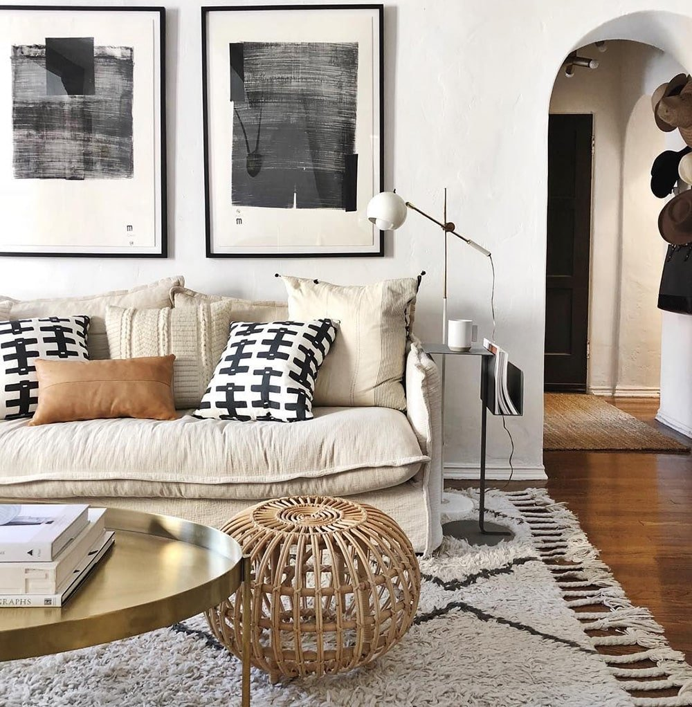 Eco Chic Interior With Modern Moroccan Style Rug by Nazmiyal Antique Rugs